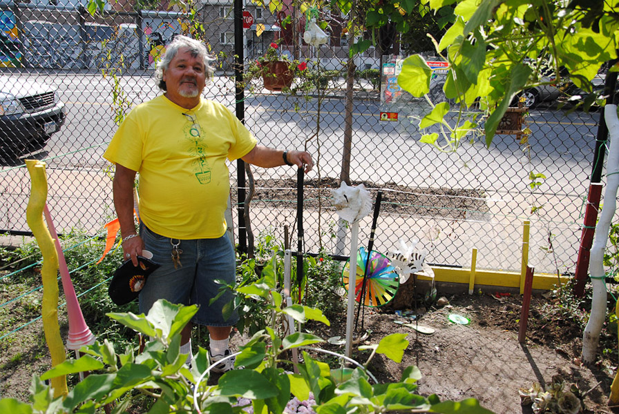 At Community Garden, Astoria, New York. (Photo: Dörte Engelkes)