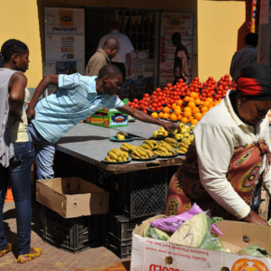Market at Quarkstreet, Hillbrow, Johannesburg. (Photo: Dörte Engelkes)