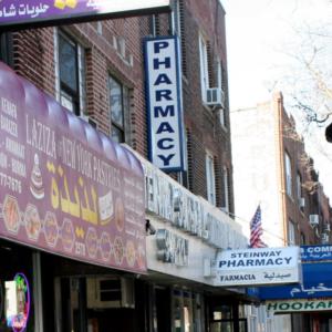 Arabic shops, Spanish-speaking pharmacy. (Photo: Steven Vertovec)
