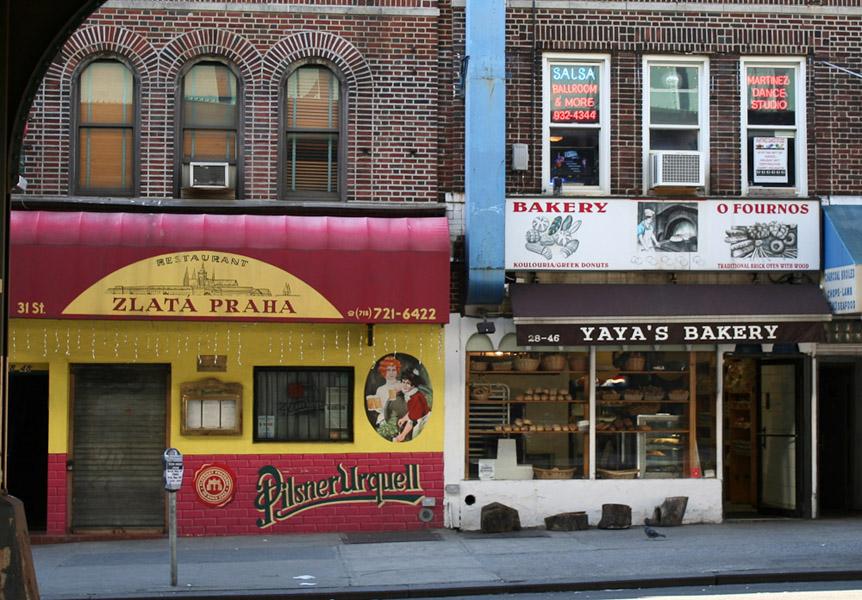Czech restaurant, Greek bakery, Salsa dance studio. (Photo: Steven Vertovec)