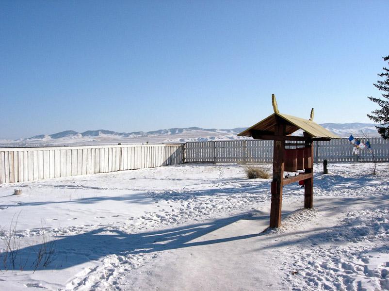 Ivolginsky Buddhist Monastery, February 2005. (Photo: Justine Buck Quijada)
