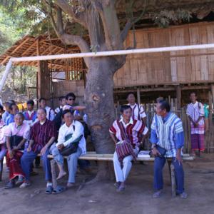 Karen Missionare und Evangeliker in Mae Ru Ma Luang. (Photo: Alexander Horstmann)