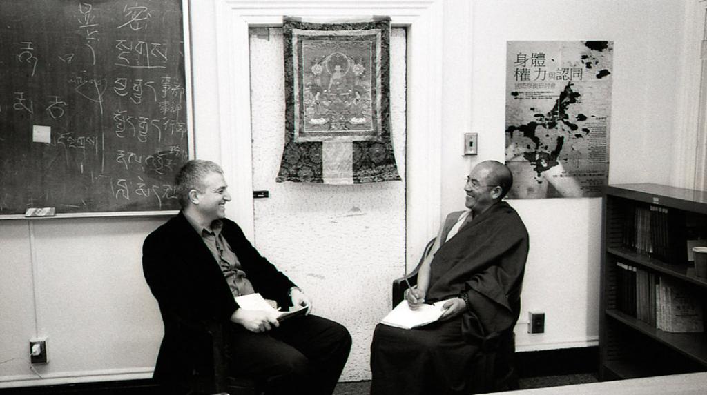 Khenpo Sodargye with Eyal Aviv at George Washington University, April 2013. (Photo: Dan Smyer Yu)