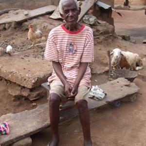 Kwabena Ofori, the oldest deaf man of Adamorobe. (Photo: Annelies Kusters)