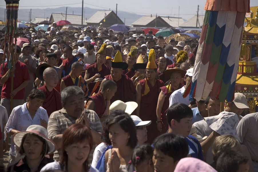 Maidari Festival, Ivolginsky Buddhist Monastery, July 2005. (Photo: Justine Buck Quijada)