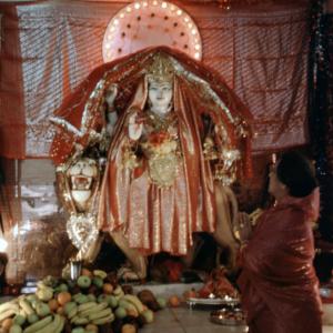 Mother goddess, Hindu temple, Southall, London. (Photo: Steven Vertovec)