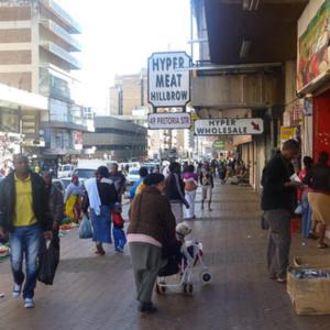 Old Bernice in 'New' Hillbrow, Pretoria Street. (Photo: Raji Matshedisho)