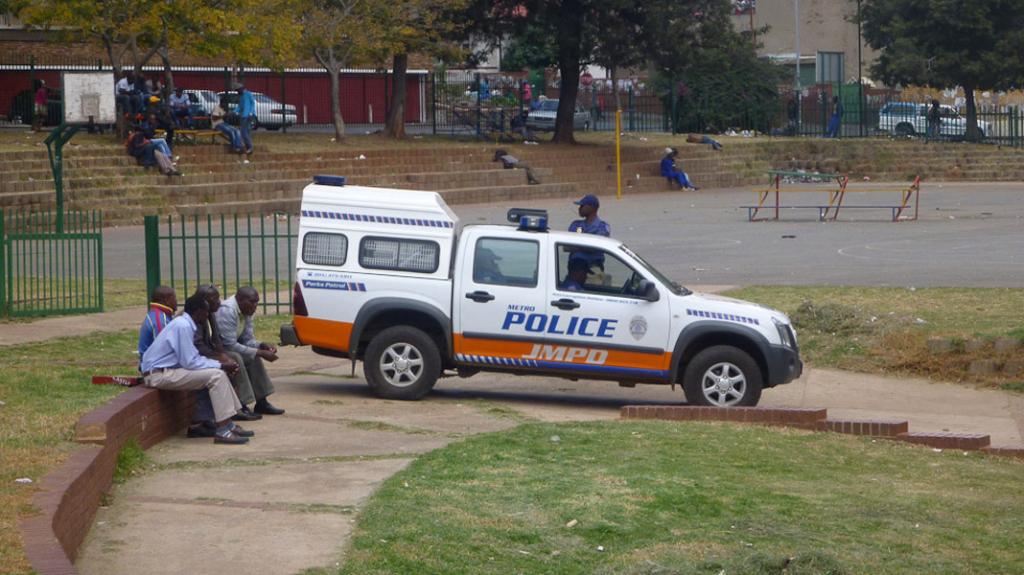 On Guard, Berea Park. (Photo: Raji Matshedisho)