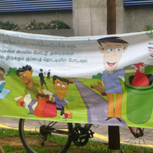 Multi-lingual anti-litter campaign, Singapore. (Photo: Steven Vertovec)