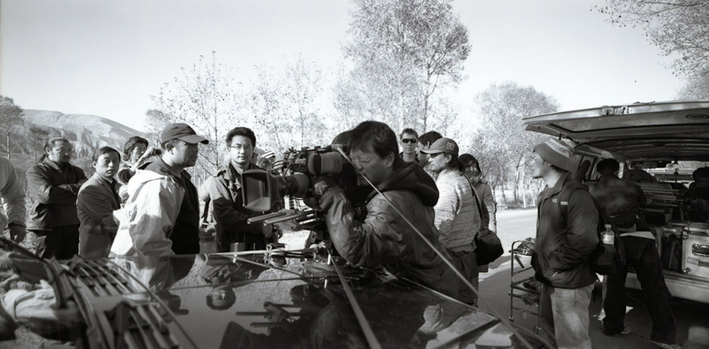 Pema Tseden (middle), founder of New Tibet Cinema, directing a feature film in Amdo. (Photo: Dan Smyer Yu)