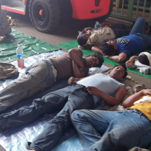 Post-lunch break at the shipyard. (Photo taken by Md. Rasel, a respondent from Bangladesh)