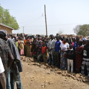 Villagers at a funeral, Nangodi. (Photo: Elena Gadjanova)