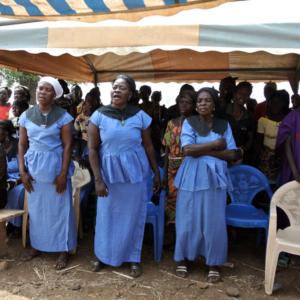 Singers at a funeral, Nangodi, Nabdam district. (Photo: Elena Gadjanova)