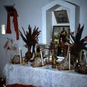 Shango altar, central Trinidad. (Photo: Steven Vertovec)