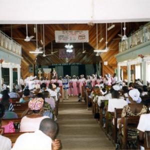 Sunday service at the Methodist Church (Dormaa Ahenkro, Ghana). (Photo: Boris Nieswand)