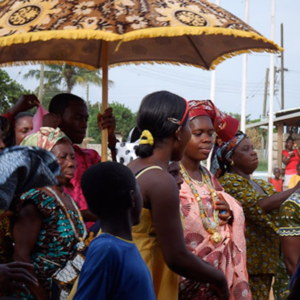 The Queenmother during Odwira festival. (Photo: Annelies Kusters)