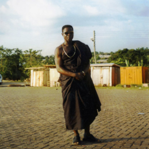 Transnational migrant on his way to a funeral (Dormaa Ahenkro, Ghana). (Photo: Boris Nieswand)