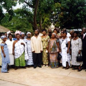 Transnational migrants' wedding party (Sunyani, Ghana). (Photo: Boris Nieswand)