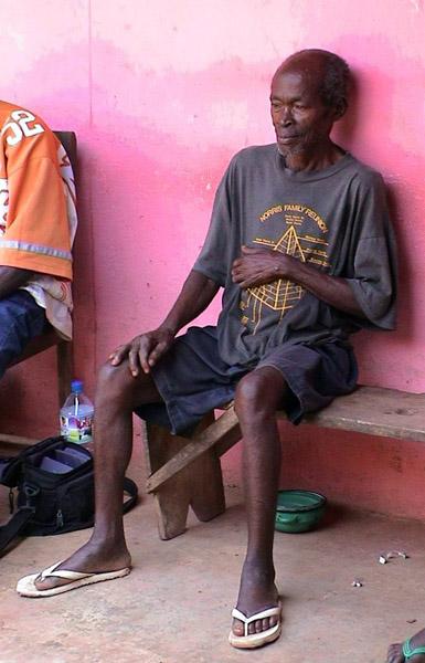 Village elder (Dormaa District, Ghana). (Photo: Boris Nieswand)