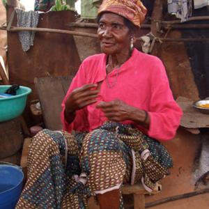 Yaa Awurabea, the oldest deaf woman of Adamorobe. (Photo: Annelies Kusters)