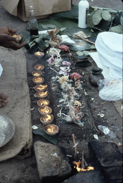 Funerary offerings. (Photo: Steven Vertovec)