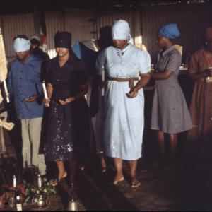new initiates, Spiritual Baptist church, southern Trinidad. (Photo: Steven Vertovec)