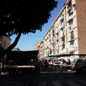 Street market I, multi-ethnic district, Murcia, Spain. (Photo: Damian Omar Martinez)