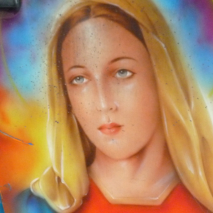 The Aura of Air-Brush Mary (close-up). (Photo: Anderson Blanton)