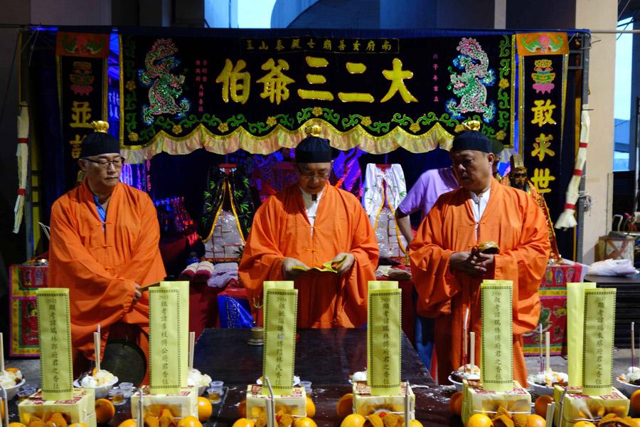Singapore – Taoist priests performing a pudu ritual for ancestors. (Photo: Fabian Graham)