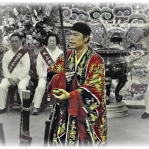 Taiwan – Taoist priest performing a sword ritual. (Photo: Fabian Graham)
