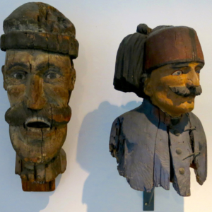 Figures of 'Turks', formerly installed on a fountain, exhibited in the Volkskundemuseum Wien. (Photo: Annika Kirbis)