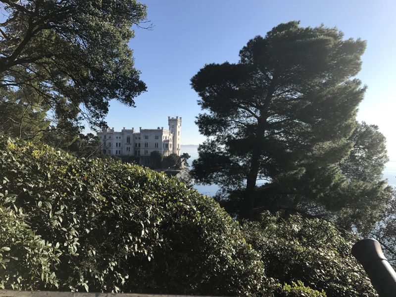 The Castle of Miramare was built by Maximilian of Habsburg at the end of the 1850s. He took residence here with his wife, Charlotte, before they moved to Mexico, where Maximiliam died. (Photo: Giulia Carabelli)