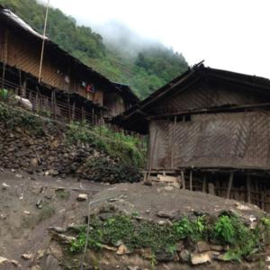 Lisu traditional housing, Maguadi Village, Lushui County, 15 June 2014. (Photo: Ying Diao)